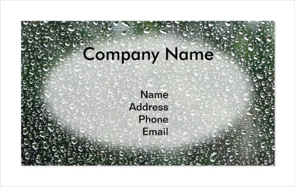 Waterproof Business Card