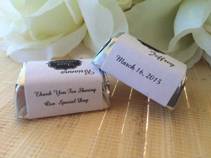 Wedding Candy Wrappers Template Download