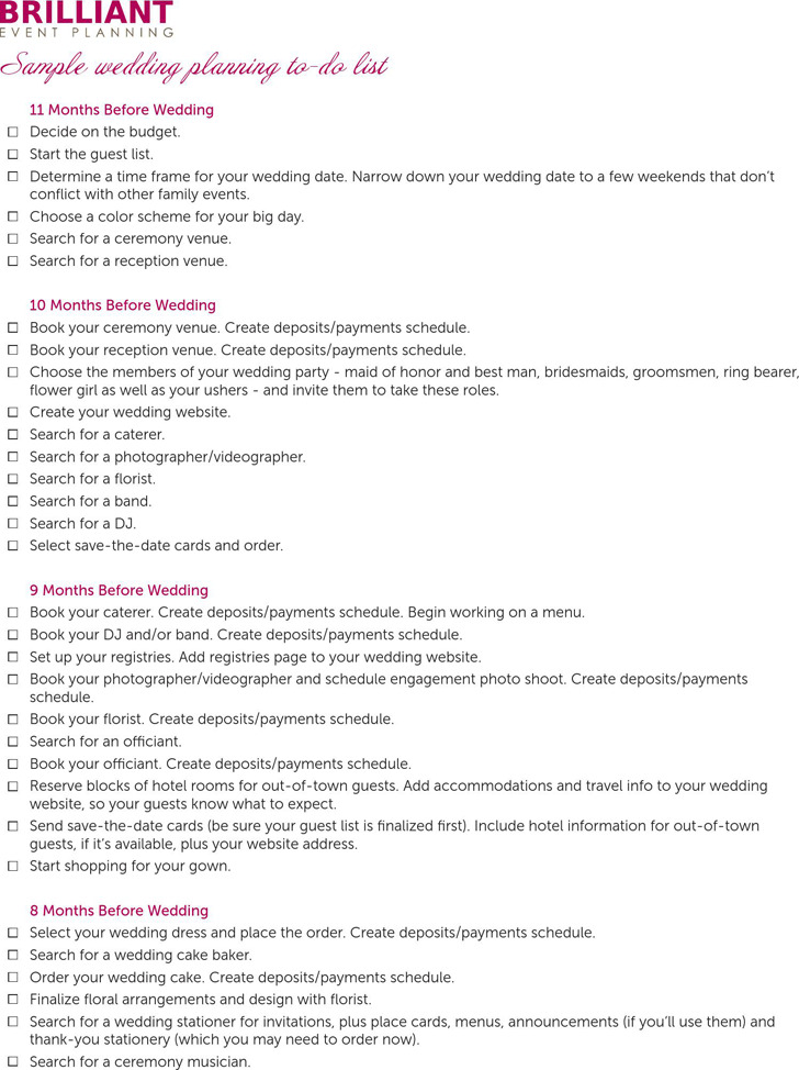 Wedding Checklist  Download Free  Premium Templates Forms
