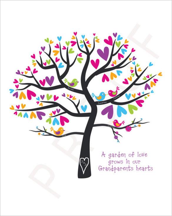 Wedding Gift Family Tree Art