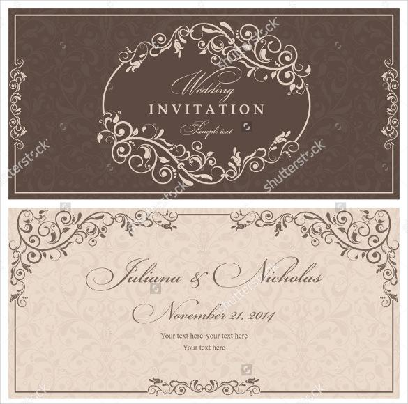 Wedding Invitattion Template For Instant Download