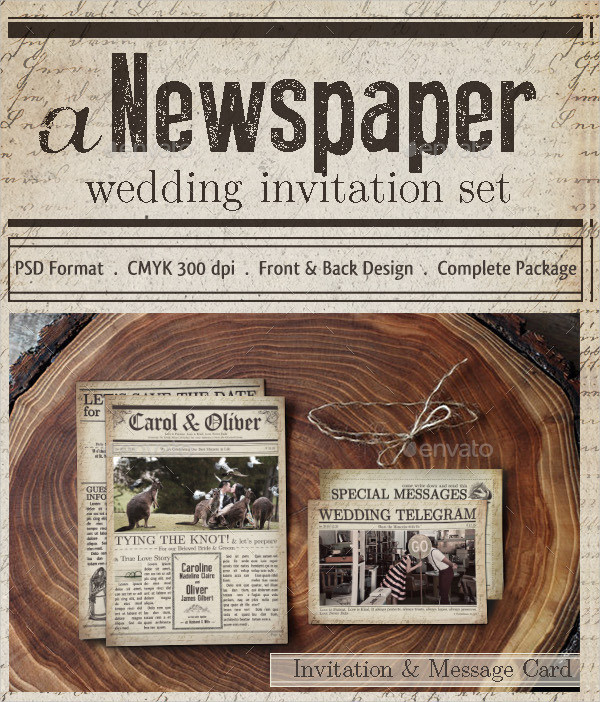 Wedding Newspaper Template Gallery Template Design Free Download