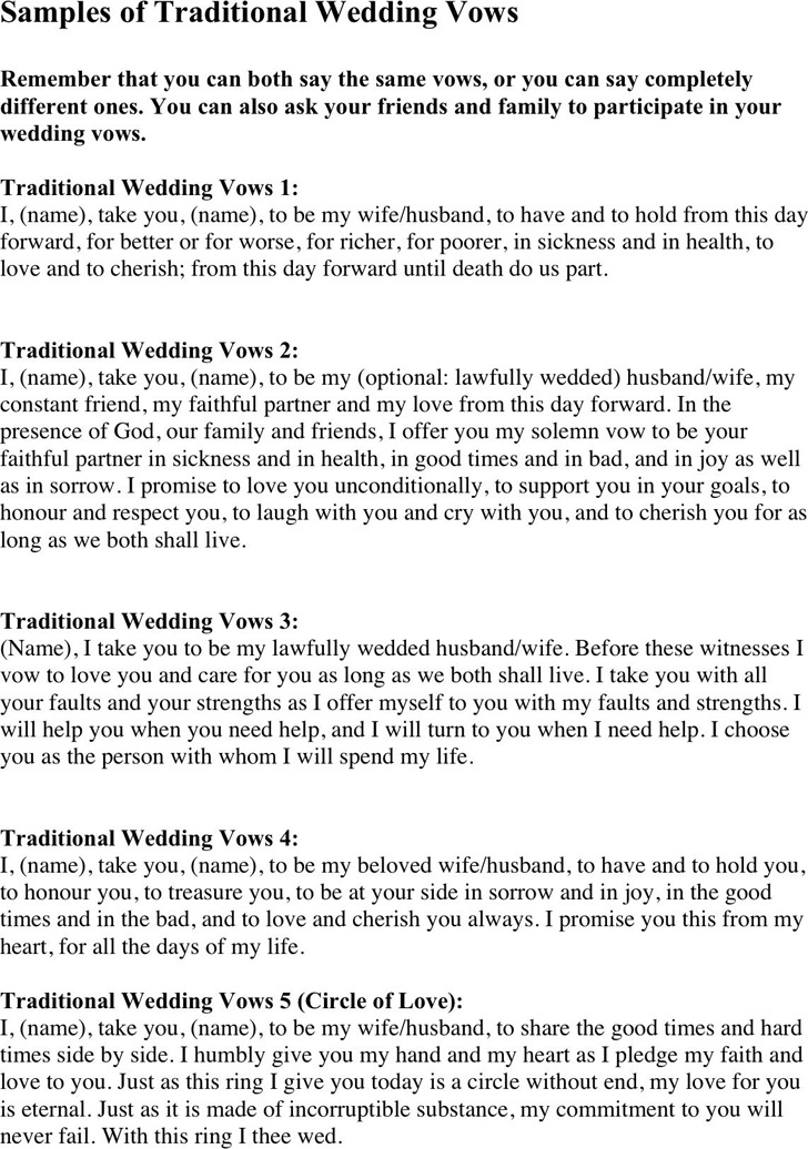 Wedding Vows Samples 3