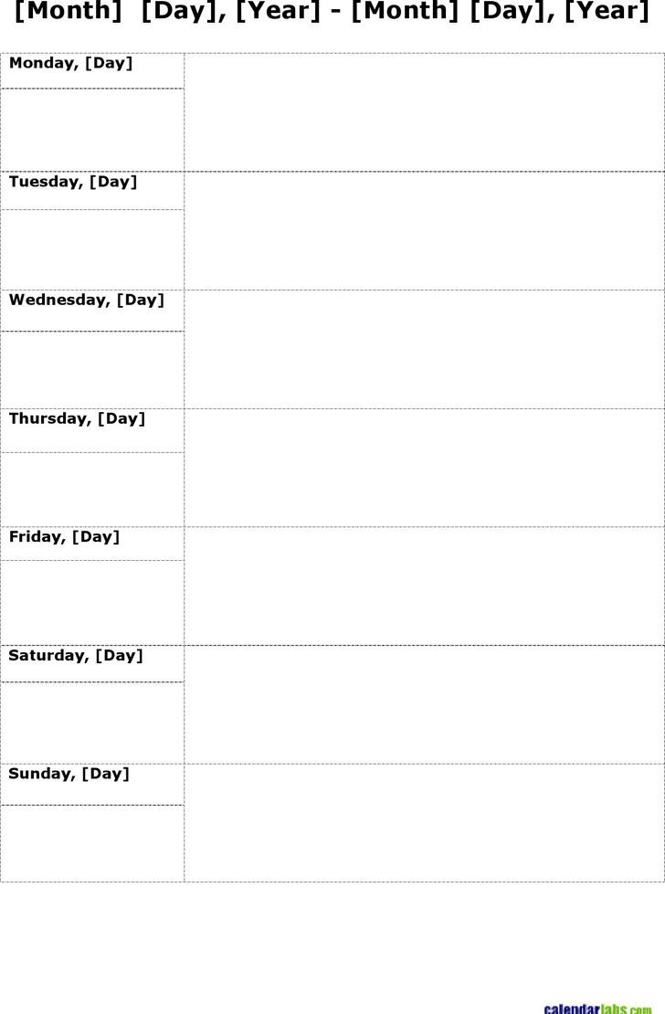 Weekly Planner Template 2
