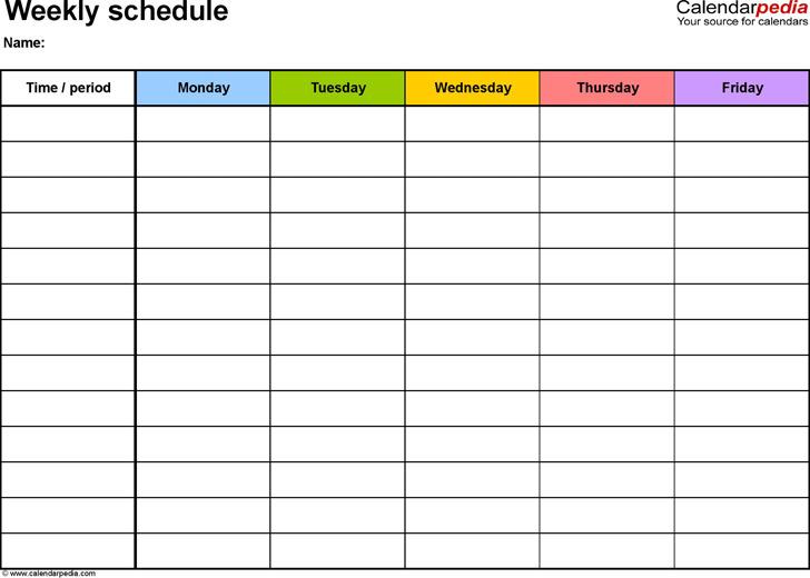 Weekly Planner Template 3