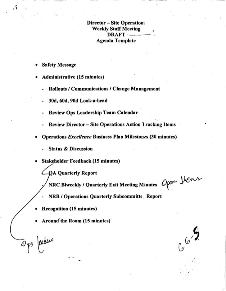 Staff Meeting Agenda Sample Staff Meeting Minutes Free Download