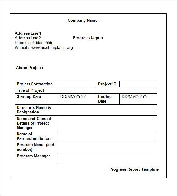 Weekly Status Report Template  Download Free  Premium Templates