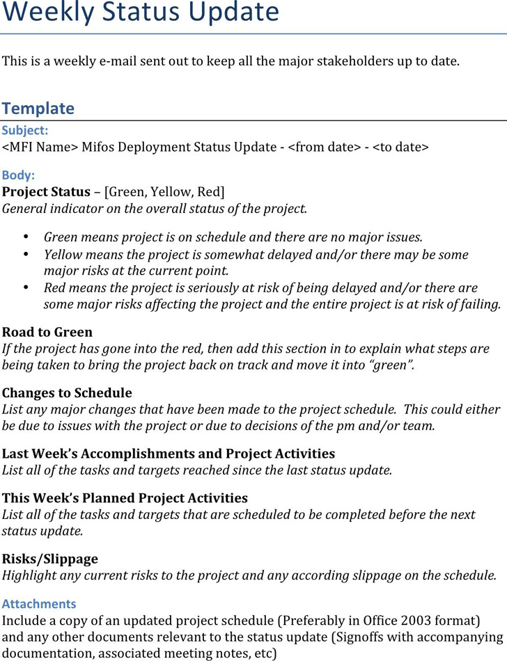 Status Report Template  Download Free  Premium Templates Forms