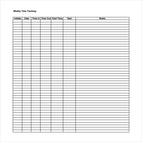 Time Tracking Templates  Download Free  Premium Templates Forms