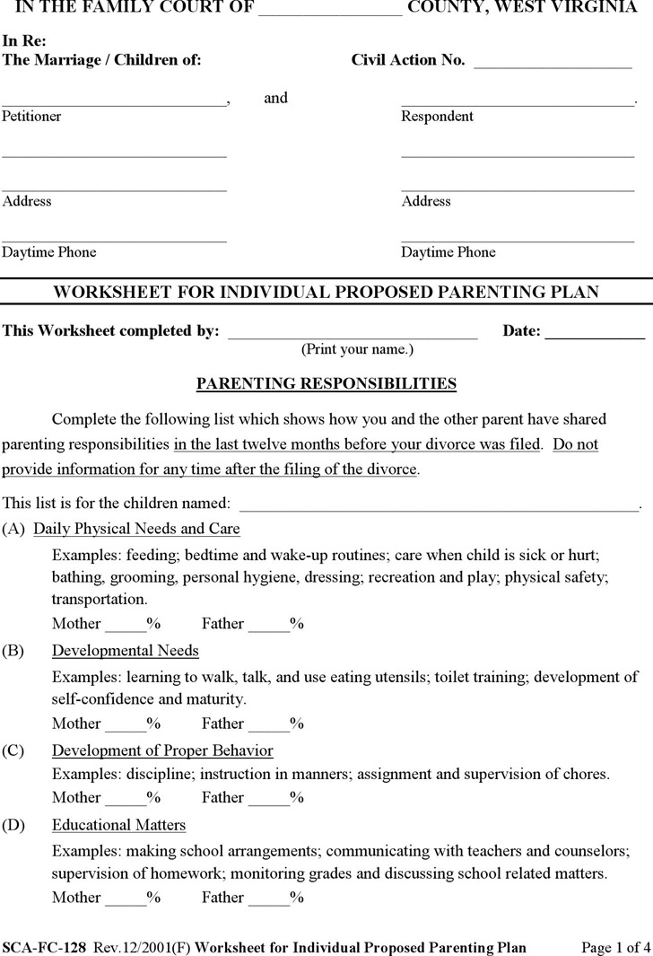 West Virginia Divorce Papers  Download Free  Premium Templates
