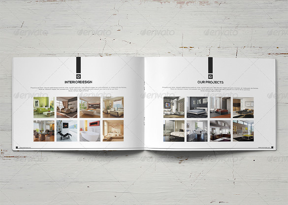 White & Black Interior Design Brochure