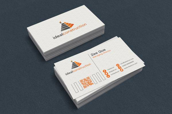 White Business Card Template & Mockup PSD