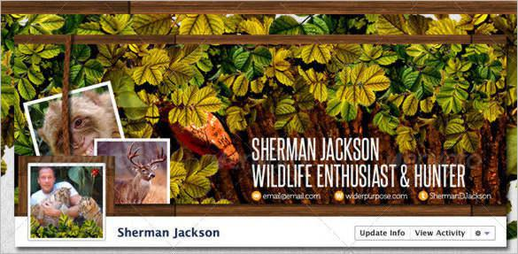 Wildlife Facebook Timeline Cover Template PSD Format