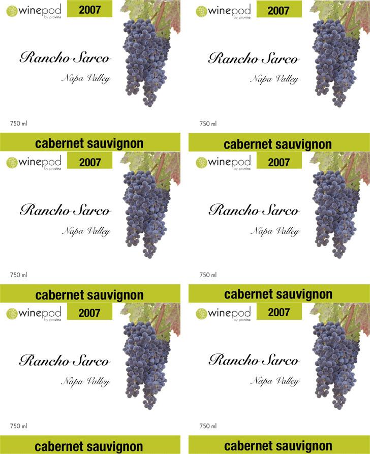 Wine Label Template 3