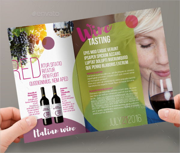 wine tasting brochure