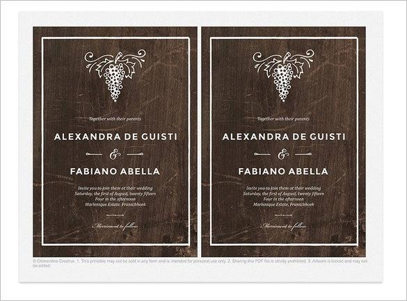 Wedding invitation templates download free premium templates winery wedding invitation template psd file stopboris Gallery