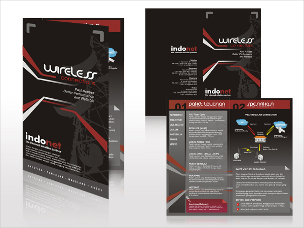 Wireless Advertising Brochure Template