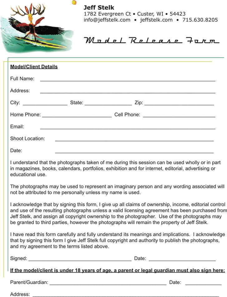 Wisconsin Model Release Form 3
