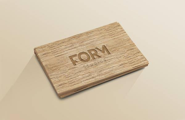 Wood Business Card Template