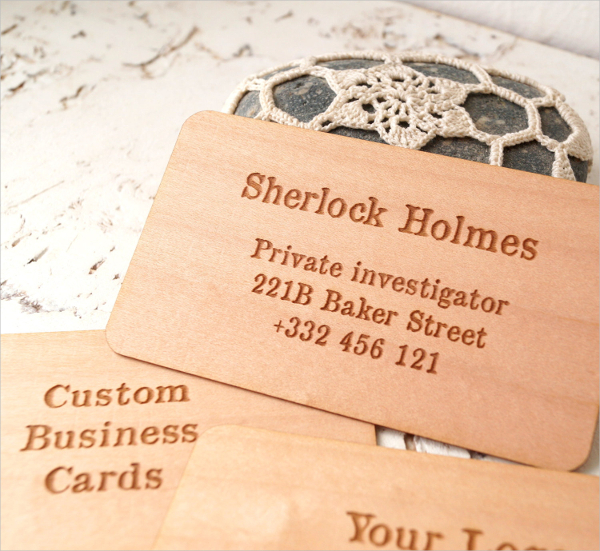 Wooden Engraved Business Card