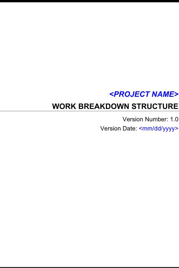 Work Breakdown Structure Template 3