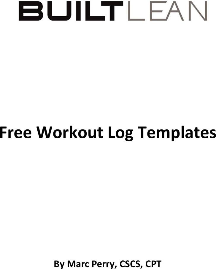 Workout Log Templates