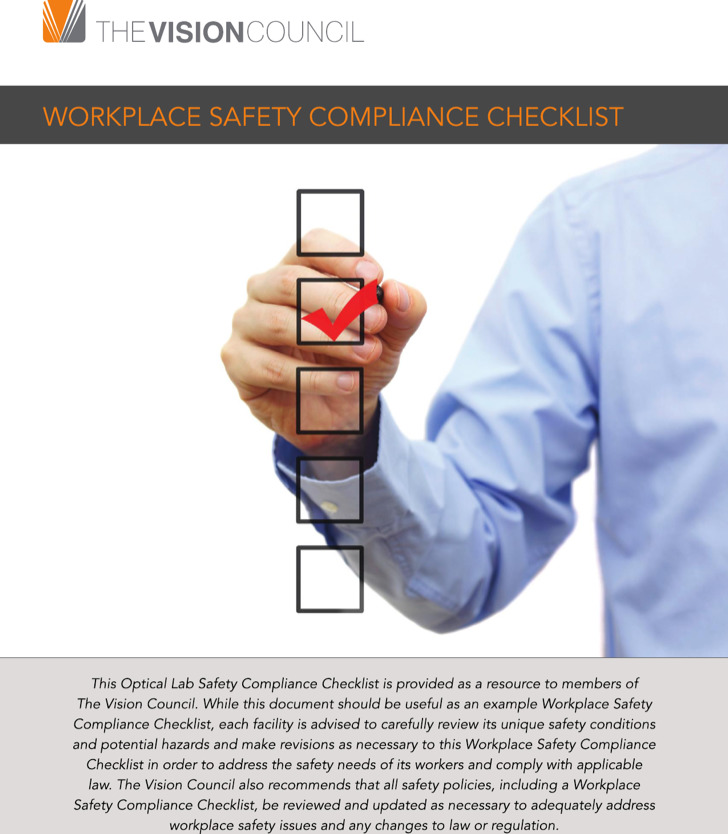Workplace Safety Compliance Checklist