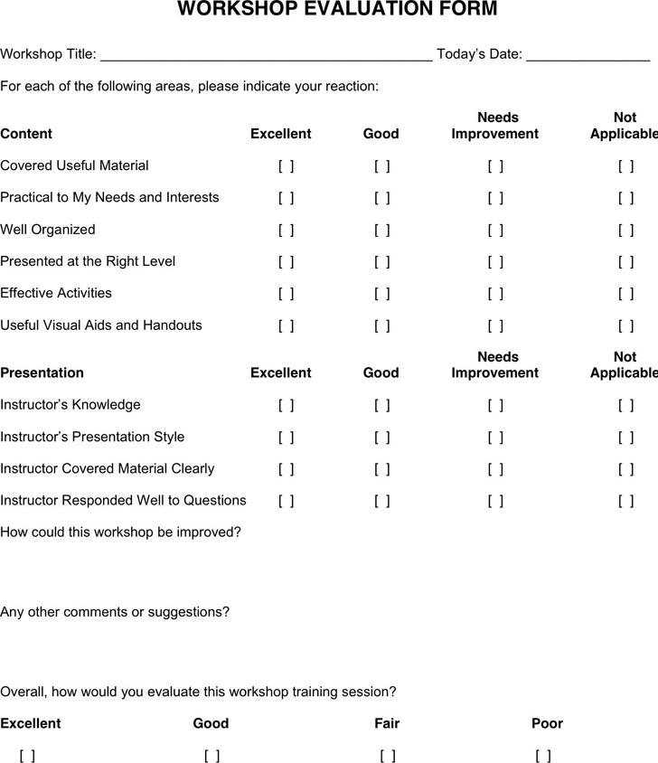 Workshop Evaluation Form 3
