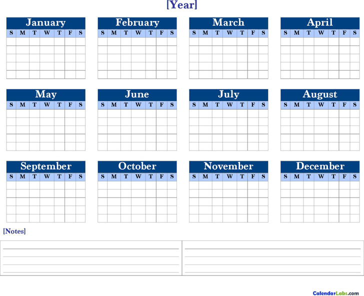 Yearly Calendar  Printable Yearly Calendars With Holidays
